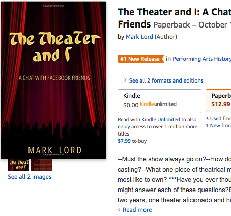"""#1 New Release! – """"The Theater and I"""" by Mark Lord"""